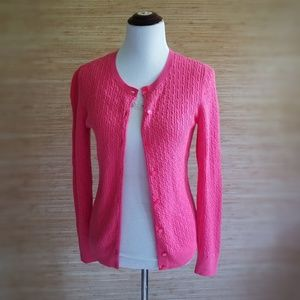 NWOT Talbots Pink Button Down Charming Cardigan